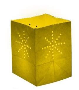 Skylantern Original Maya 1726 Paper Bag Lantern Yellow M