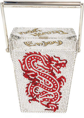 Judith Leiber Couture Crystal Take Out Box Clutch Bag