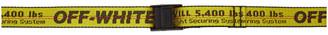 Off-White Yellow Mini Industrial Belt
