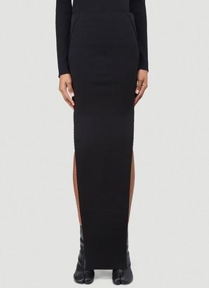 Rick Owens Side Slit Maxi Skirt