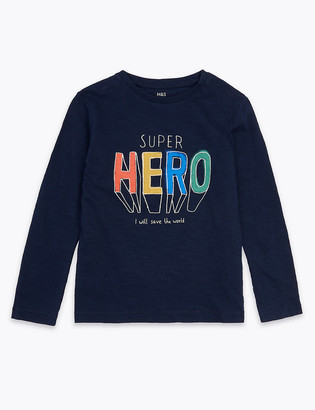 Marks and Spencer Pure Cotton Super Hero Top (2-7 Years)