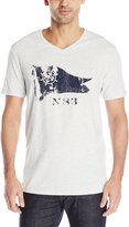 Nautica Men's Flag Graphic V-Neck T-Shirt