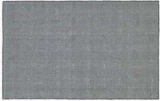 One Kings Lane Onika Flat-Weave Rug - Navy - 2'x6'