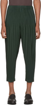 Issey Miyake Homme Plisse Green Tapered Bottom Trousers