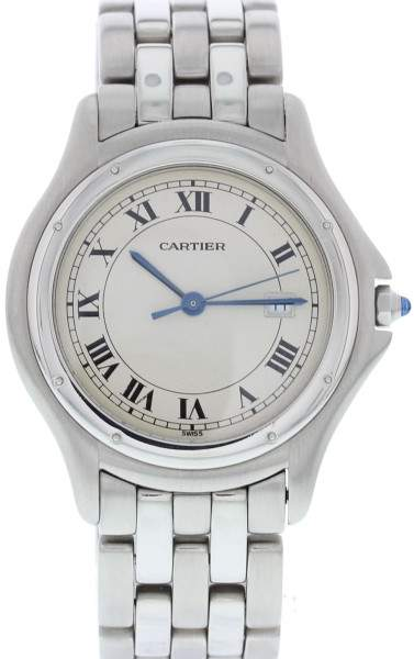 Cartier Panthere Cougar 987904 Stainless Steel Quartz 33mm Mens Watch