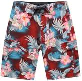 Palm Wave Men's Beach Wear Board Shorts with Pocket in