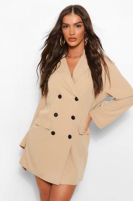 boohoo Oversized Drop Shoulder Blazer Dress