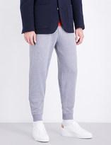 Brunello Cucinelli Marled cotton jogging bottoms