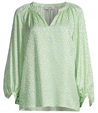 Lafayette 148 New York Norwood Printed Silk Blouse