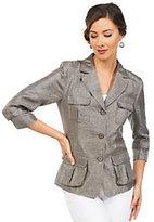 Joan Rivers Classics Collection Joan Rivers Safari Style 3/4 Sleeve Jacket