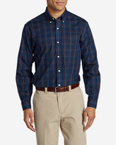Eddie Bauer Men's Wrinkle-Free Pinpoint Oxford Relaxed Fit Long-Sleeve Shirt - Seasonal Pattern