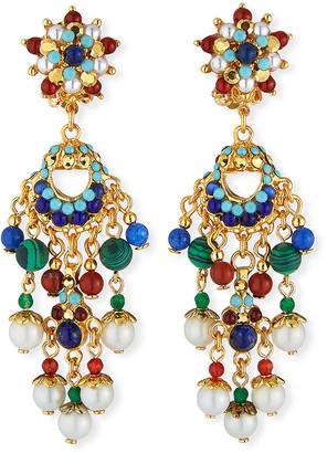 Jose & Maria Barrera Pearly Linear Clip-On Earrings