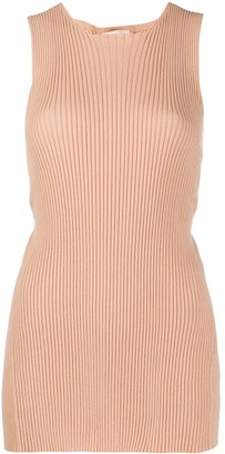 Semi-Couture Knitted Ribbed Top