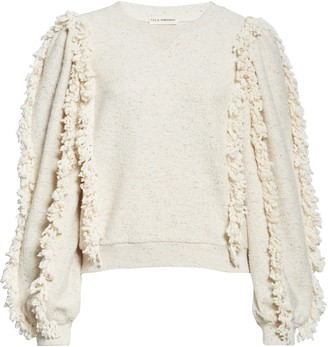 Ulla Johnson Sage Fringe Sleeve Sweatshirt