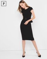 White House Black Market Petite Black Peplum Sheath Dress