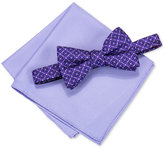 Alfani Men's Venus Geo Pre-Tied Bow Tie & Pocket Square Set, Only at Macy's