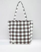 Jack Wills Check Print Shopper Bag