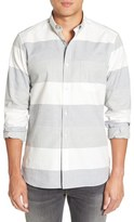 French Connection 'Enderbite' Trim Fit Stripe Sport Shirt