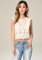 Bebe Lace Ruffle Top