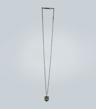 Gucci Sterling silver necklace with feline head