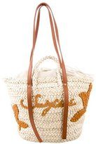 See by Chloe Leather-Trimmed Raffia Tote