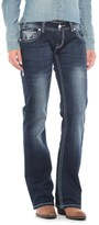 Rock & Roll Cowgirl Aztec Rhinestone Embroidered Jeans - Low Rise, Bootcut (For Women)