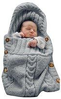 SEENFUN Newborn Baby Crochet Sleeping Bag Sleep Bag Wrap Swaddle Blanket