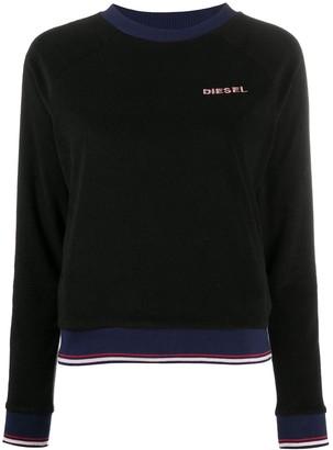 Diesel Lesia logo embroidered jumper