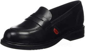 Kickers Girls' Lach Loafer Leather Shoes