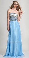 Dave and Johnny Beaded Strapless Prom Dress
