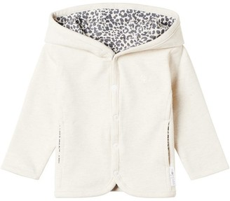 Noppies Unisex Reversible Cardigan Oatmeal Baby 0 - 6 Months