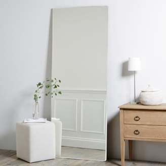 The White Company Chiltern Thin Metal Full Length Mirror, White, One Size