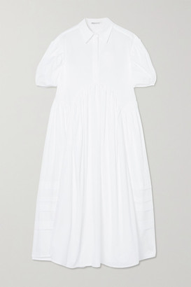 Cecilie Bahnsen Margo Gathered Cotton-poplin Shirt Dress - White