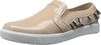 Elephantito Girls' Ruffled Slip-on Sneaker