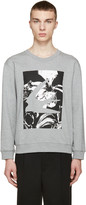 McQ by Alexander McQueen Grey Swallow Graphic Pullover