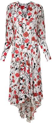 Reinaldo Lourenço Silk Floral Midi Dress