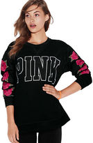 PINK Embroidered Campus Crew