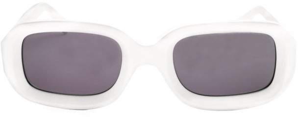 Illesteva Vinyl Matte Rectangular Sunglasses