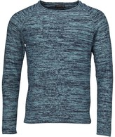 Jack and Jones Mens Ian Crew Neck Jumper Mineral Blue