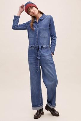 Selected Victoria Wide-Leg Denim Jumpsuit