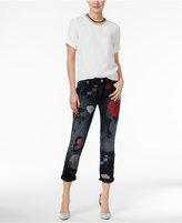 True Religion Audrey Ripped Embroidered Slim Boyfriend Jeans
