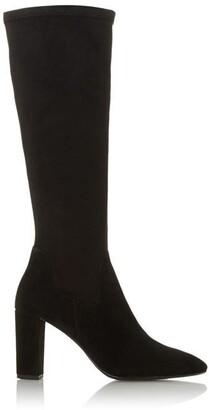 Dune London Siren High Block Heel Pointed Toe Boots