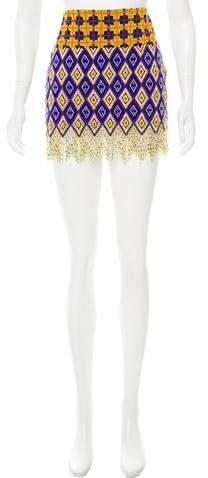 Michel Klein Beaded Mini Skirt w/ Tags