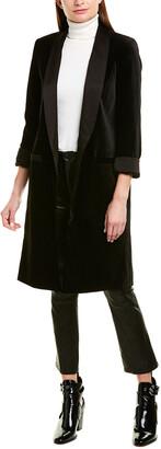 Alice + Olivia Kylie Velvet Long Jacket