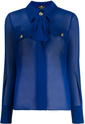 Elisabetta Franchi Sheer Tailored Blouse