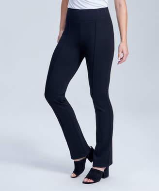 Seven7 Women's Leggings BLACK - Black Pintuck Ponte Bootcut Pants - Women
