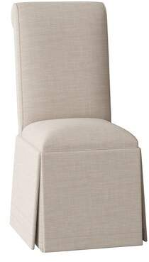 Sloane Nantucket Side Chair Whitney Body Fabric: Angela Cream, Piping Fabric: Angela Cream