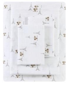 ED Ellen Degeneres Augie in Paris Percale Full Sheet Set Bedding