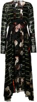 Preen by Thornton Bregazzi mixed print maxi dress