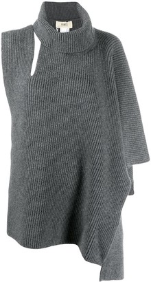 Ports 1961 Knitted Asymmetric Poncho